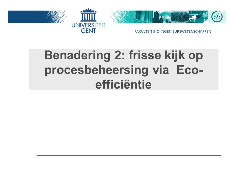 Benadering 2: frisse kijk op procesbeheersing via Eco-efficiëntie