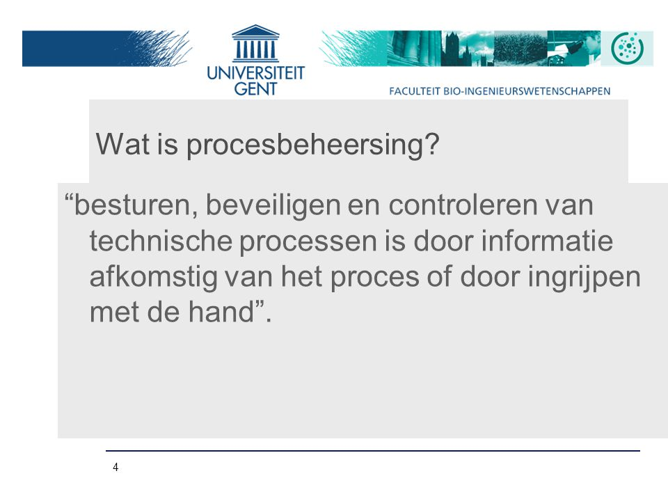 Wat is procesbeheersing