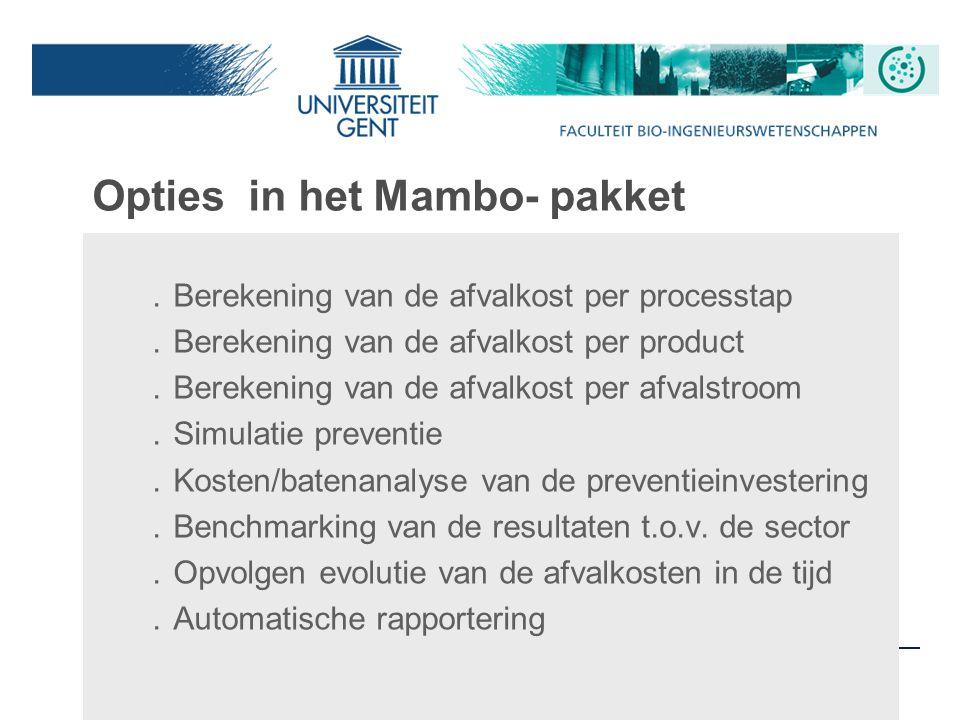 Opties in het Mambo- pakket