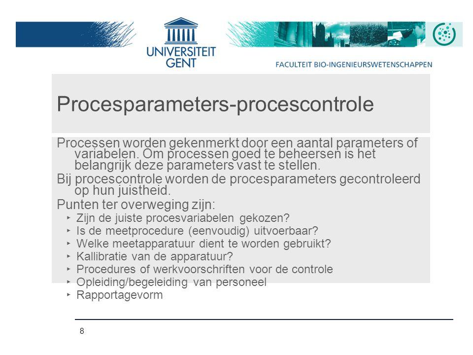 Procesparameters-procescontrole