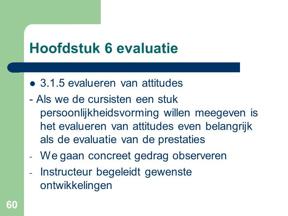 Hoofdstuk 6 evaluatie 3.1.5 evalueren van attitudes