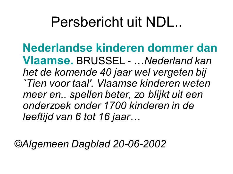 Persbericht uit NDL..