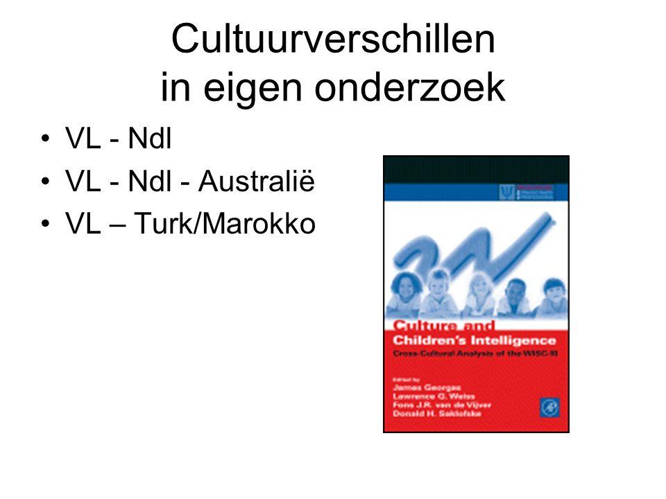 Cultuurverschillen in eigen onderzoek