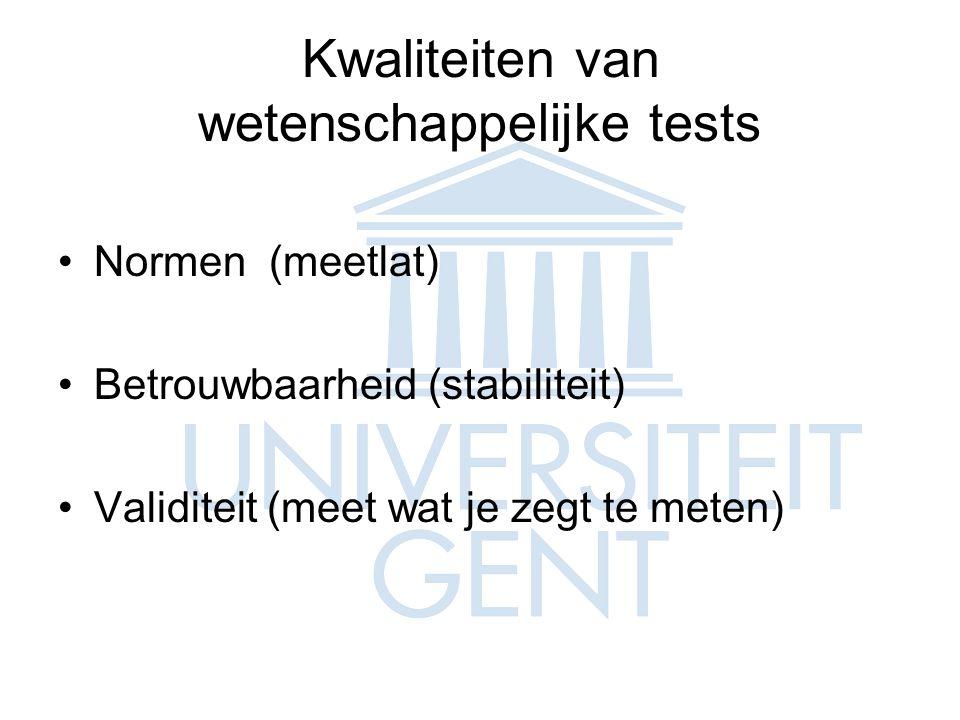 Kwaliteiten van wetenschappelijke tests