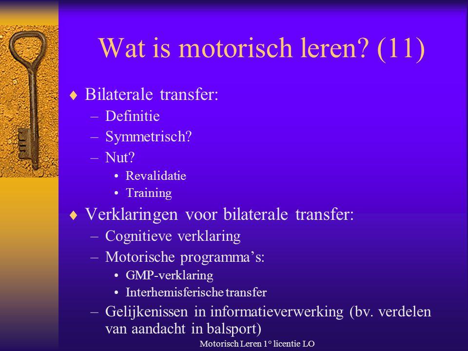 Wat is motorisch leren (11)