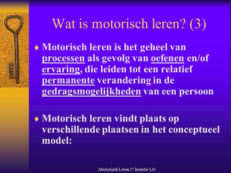 Wat is motorisch leren (3)