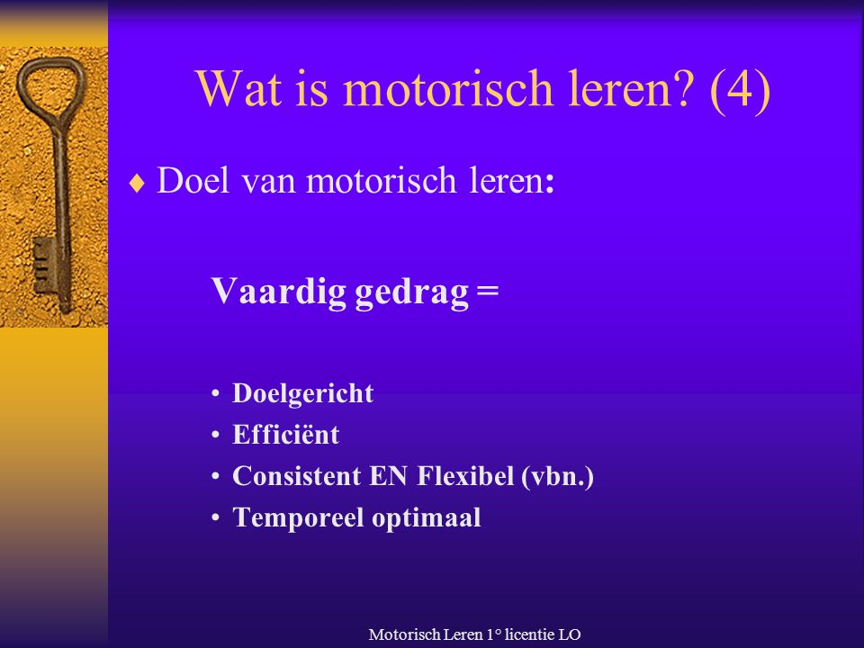 Wat is motorisch leren (4)