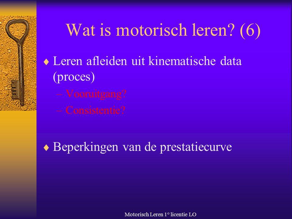 Wat is motorisch leren (6)