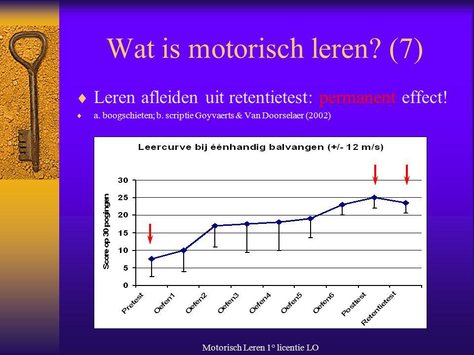 Wat is motorisch leren (7)