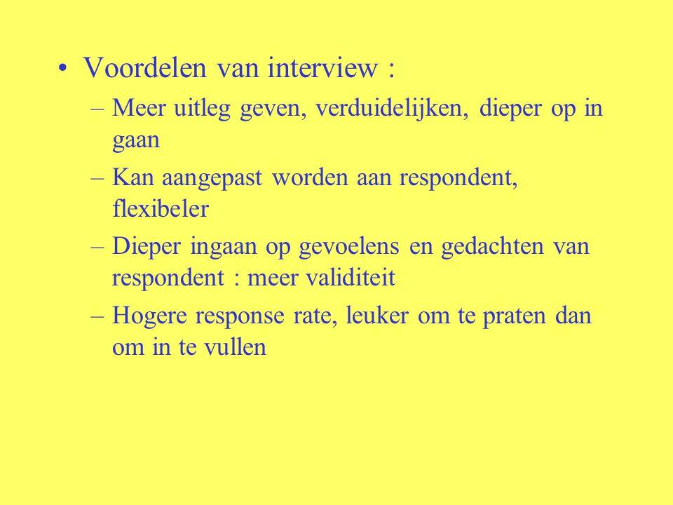 Voordelen van interview :