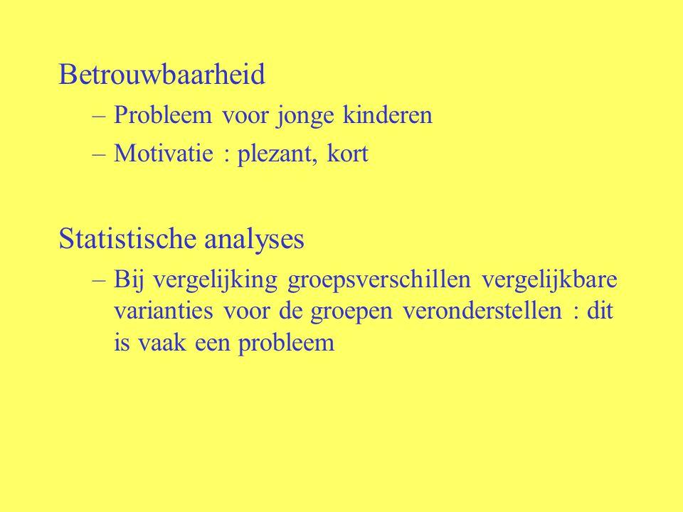 Statistische analyses