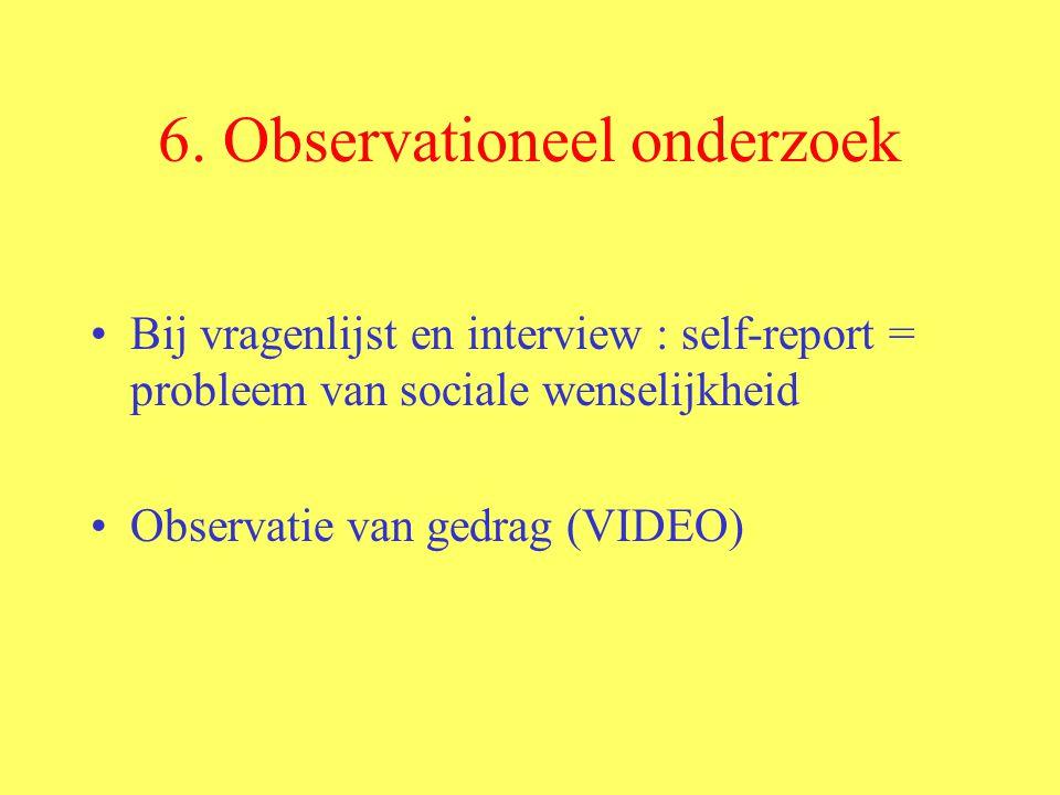 6. Observationeel onderzoek