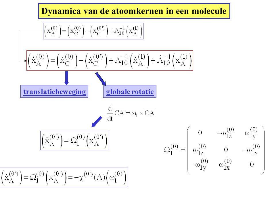 Dynamica van de atoomkernen in een molecule
