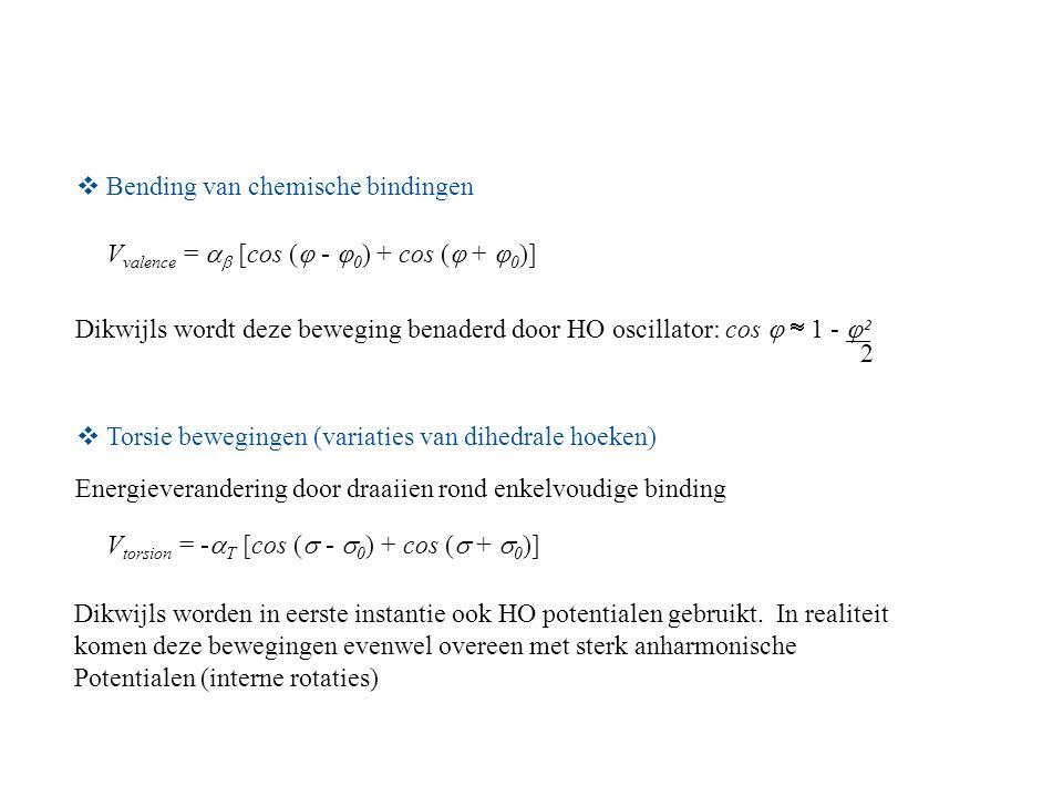 Bending van chemische bindingen