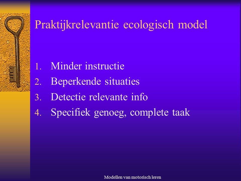 Praktijkrelevantie ecologisch model