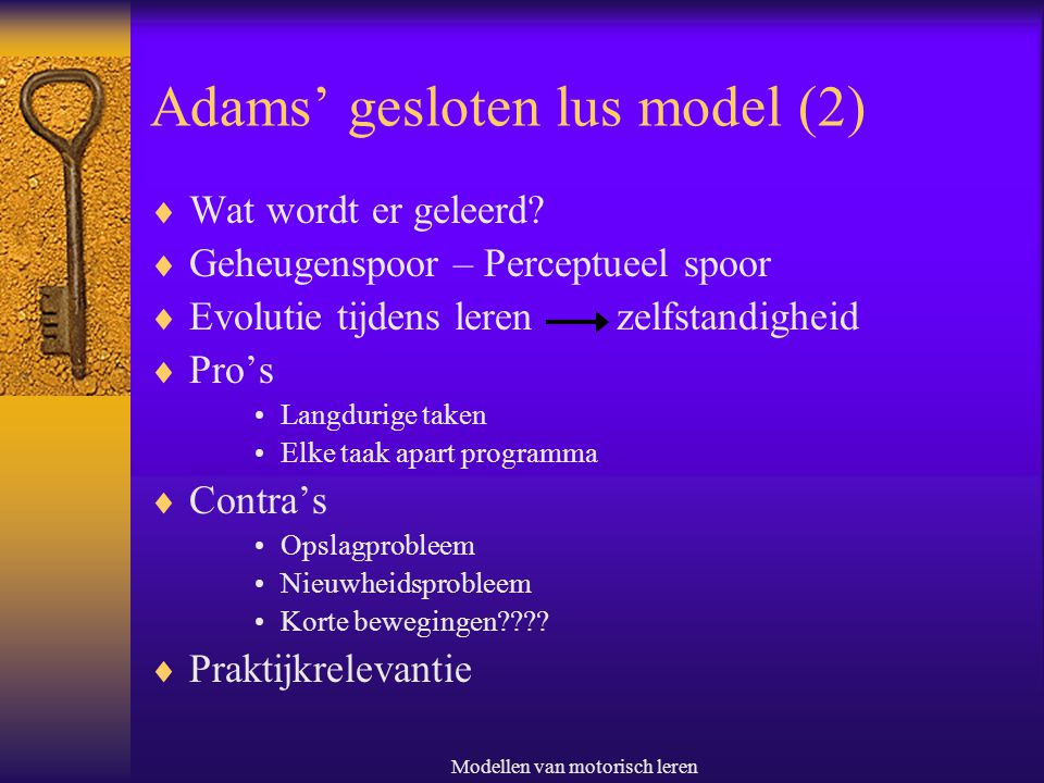 Adams' gesloten lus model (2)