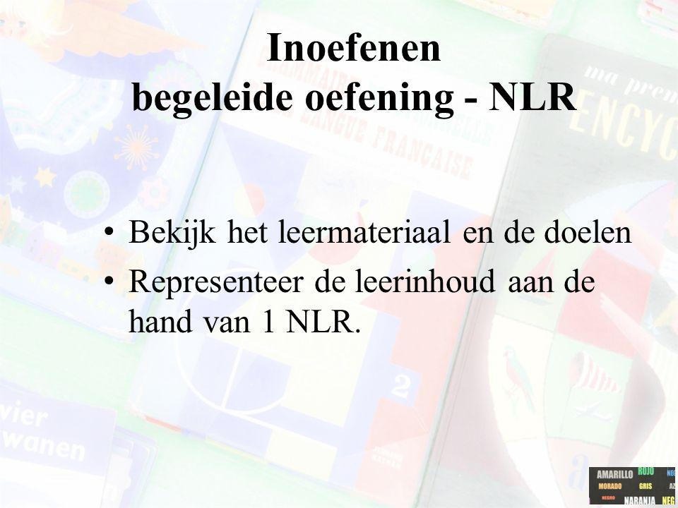 Inoefenen begeleide oefening - NLR