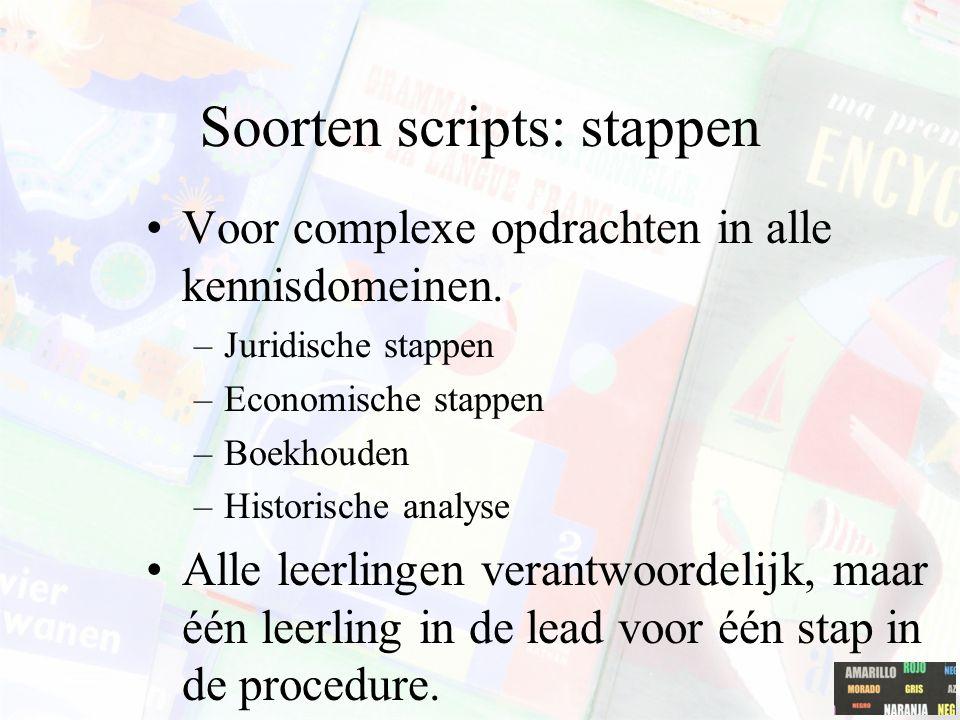 Soorten scripts: stappen