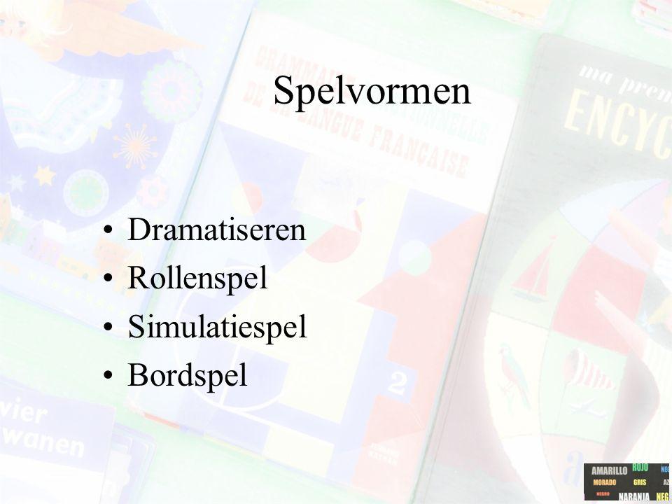 Spelvormen Dramatiseren Rollenspel Simulatiespel Bordspel