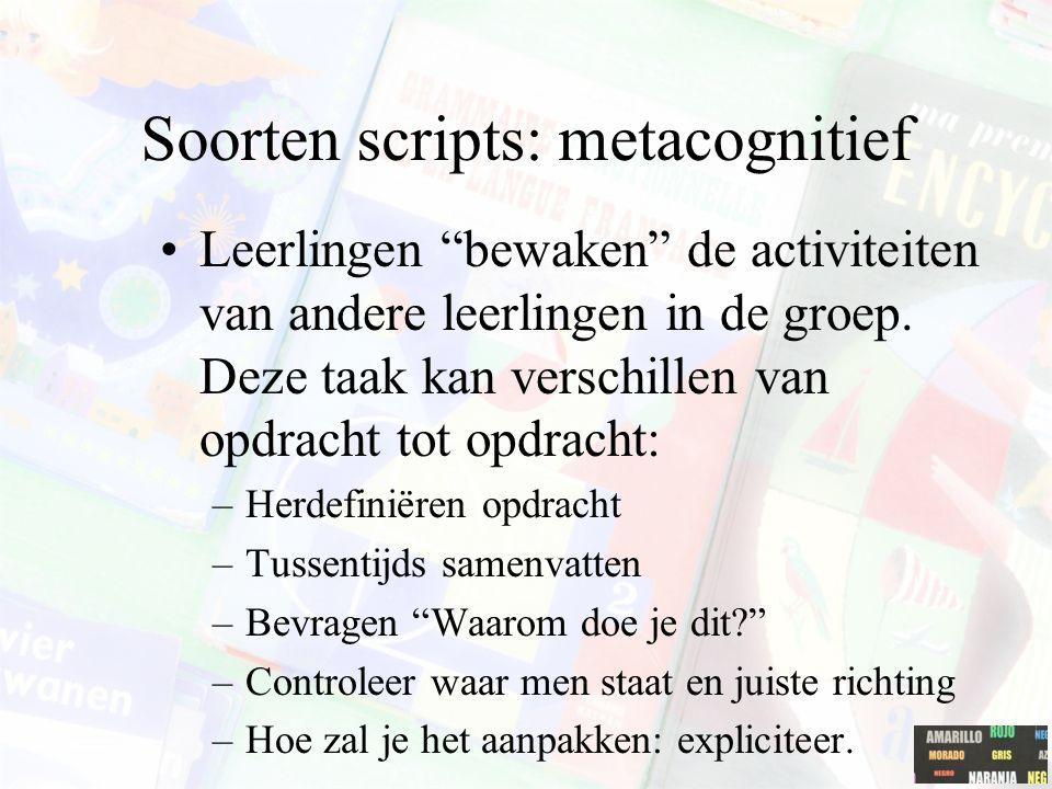 Soorten scripts: metacognitief
