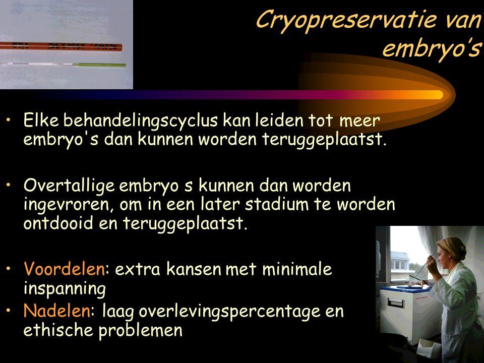 Cryopreservatie van embryo's