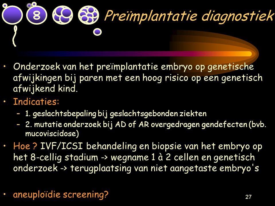 Preïmplantatie diagnostiek