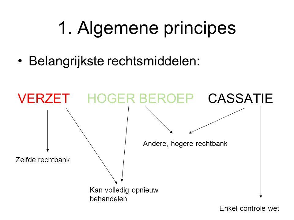 1. Algemene principes Belangrijkste rechtsmiddelen: