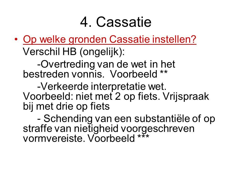4. Cassatie Op welke gronden Cassatie instellen