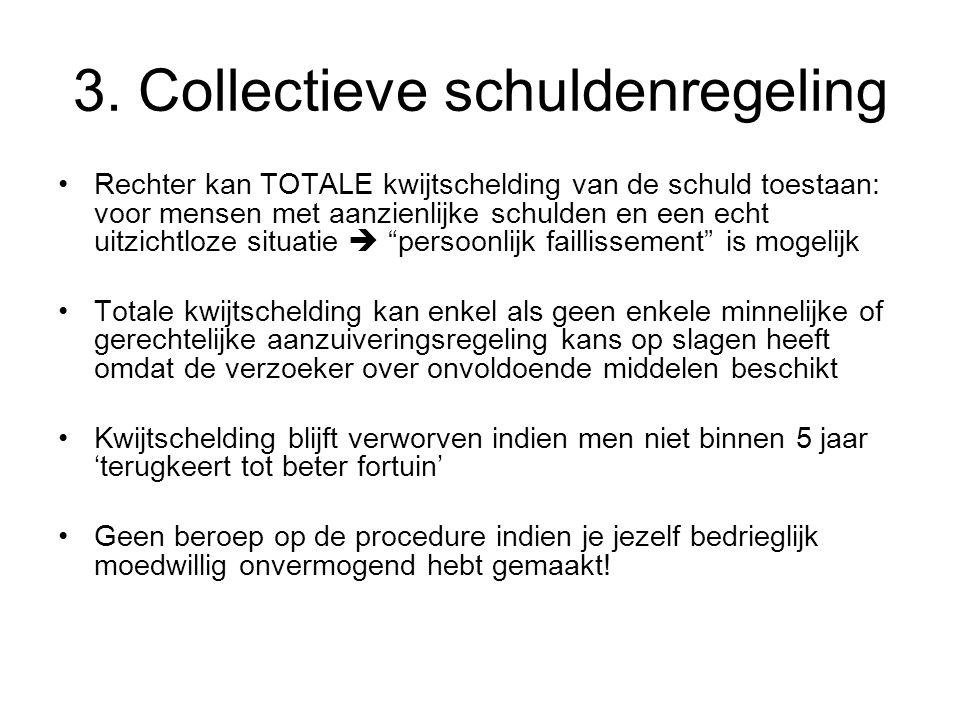 3. Collectieve schuldenregeling