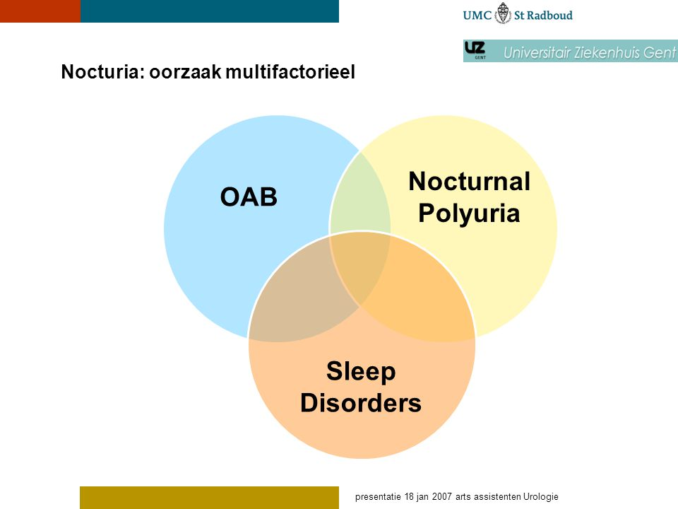 Nocturia: oorzaak multifactorieel