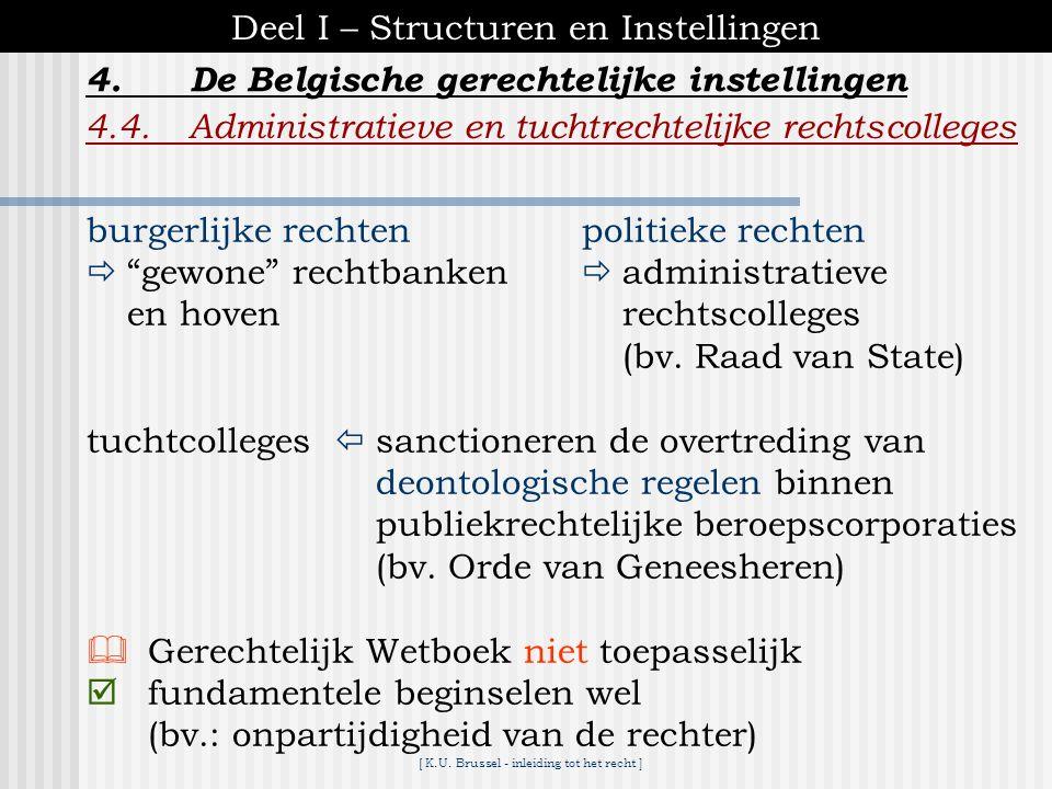 Deel I – Structuren en Instellingen