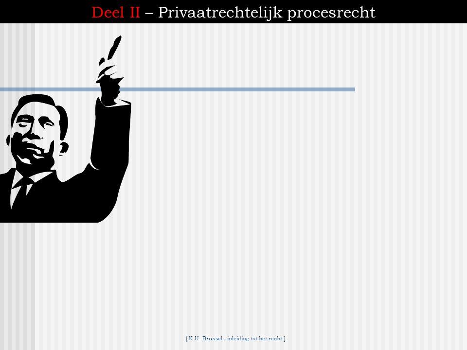 Deel II – Privaatrechtelijk procesrecht