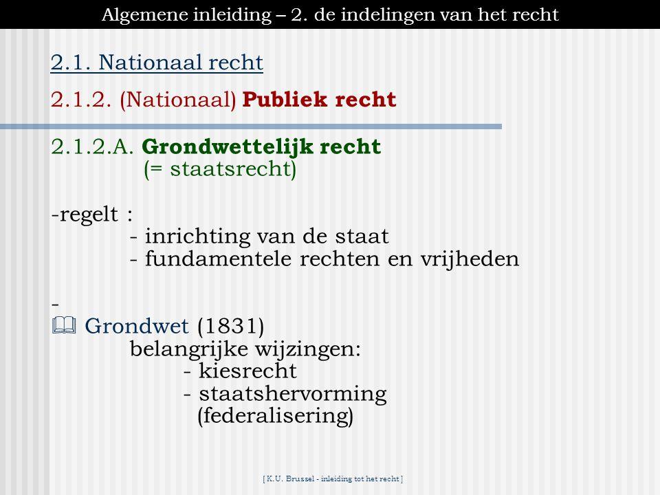 2.1.2. (Nationaal) Publiek recht
