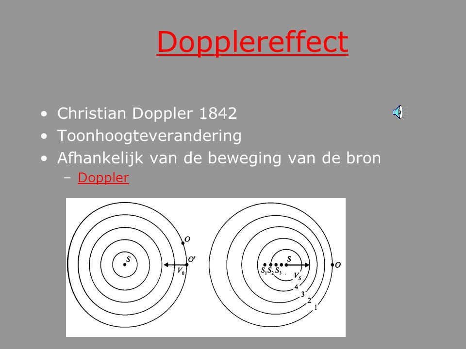 Dopplereffect Christian Doppler 1842 Toonhoogteverandering