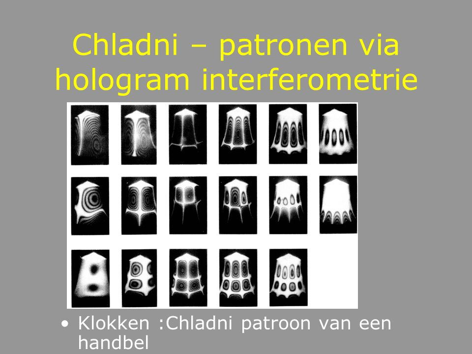 Chladni – patronen via hologram interferometrie