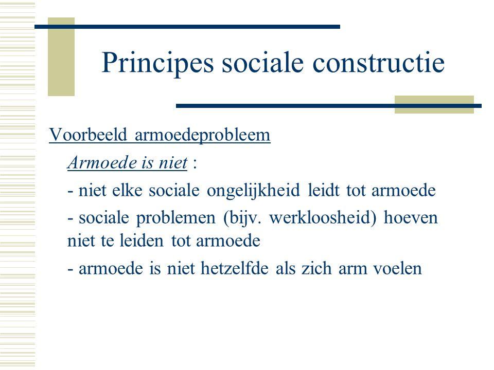 Principes sociale constructie