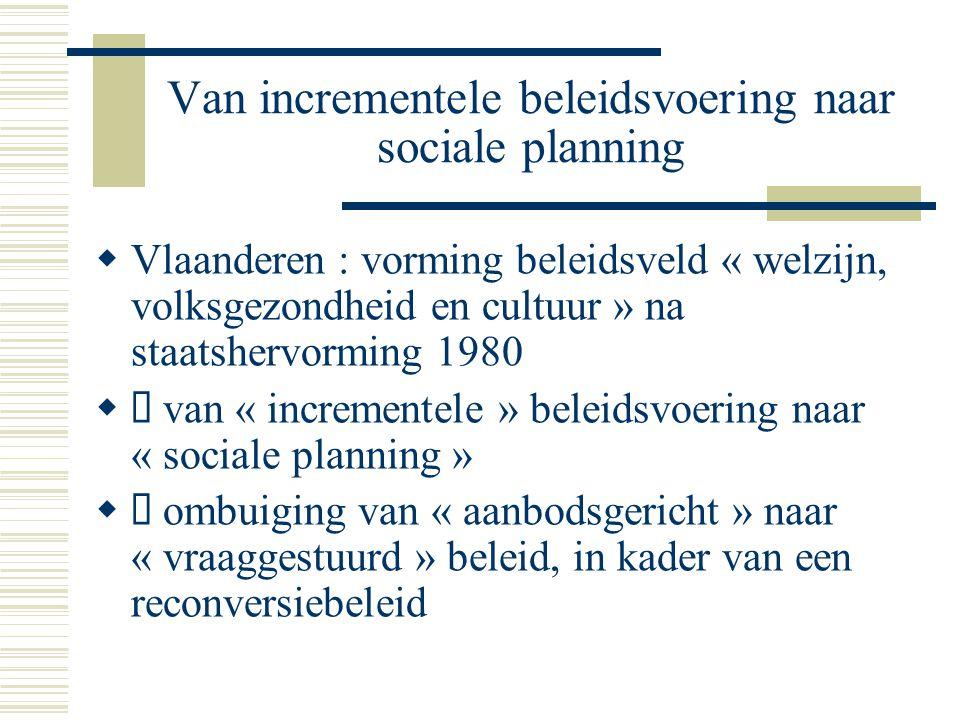 Van incrementele beleidsvoering naar sociale planning