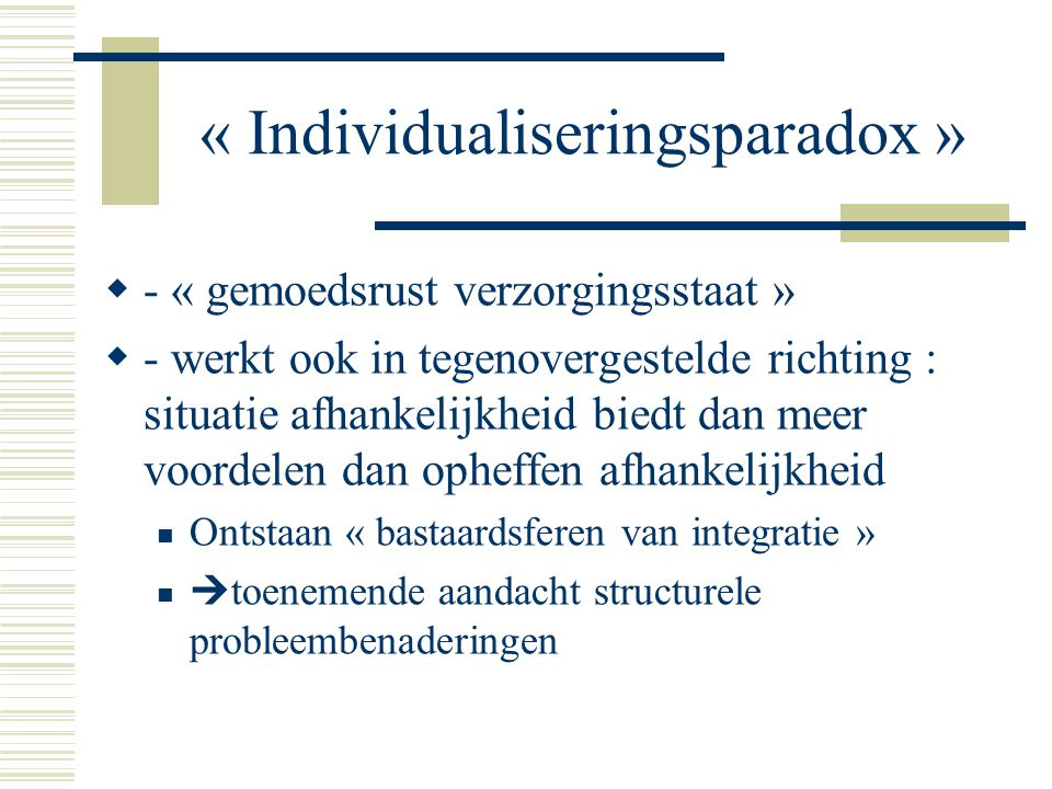 « Individualiseringsparadox »