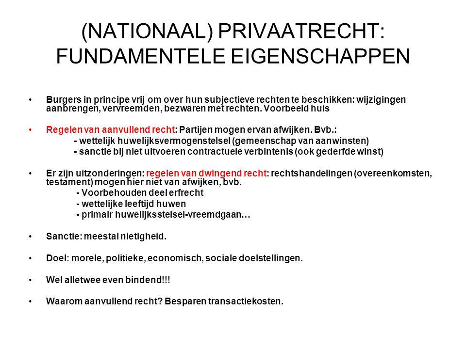 (NATIONAAL) PRIVAATRECHT: FUNDAMENTELE EIGENSCHAPPEN
