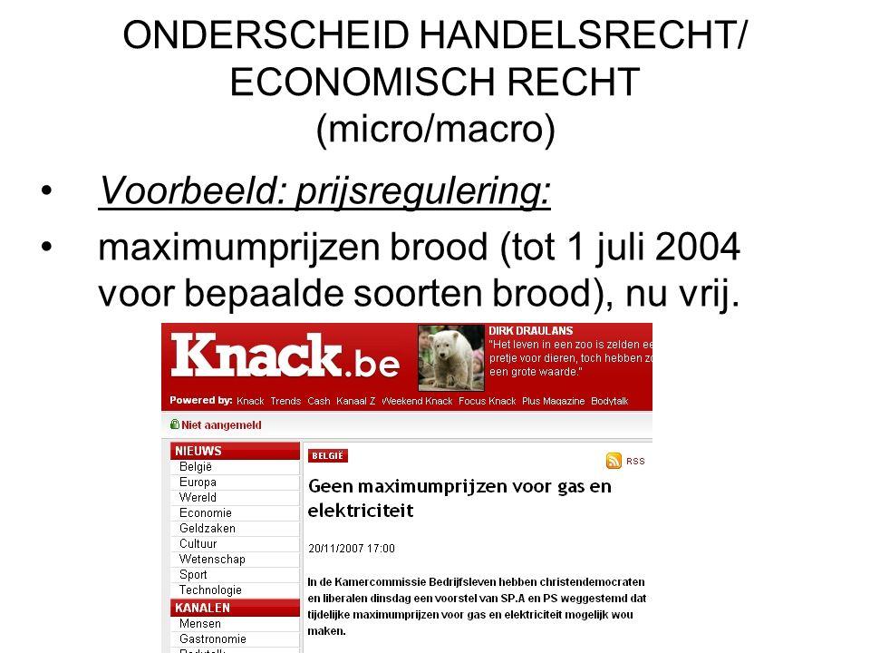 ONDERSCHEID HANDELSRECHT/ ECONOMISCH RECHT (micro/macro)