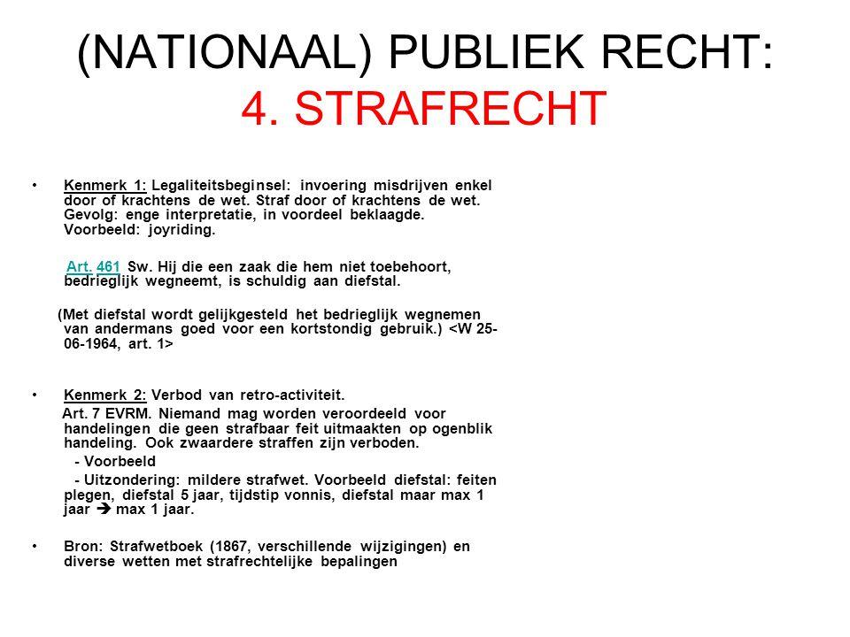 (NATIONAAL) PUBLIEK RECHT: 4. STRAFRECHT