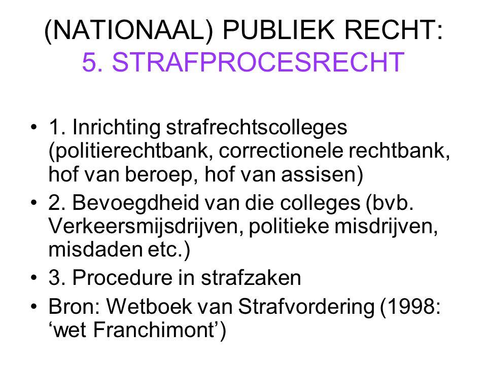 (NATIONAAL) PUBLIEK RECHT: 5. STRAFPROCESRECHT