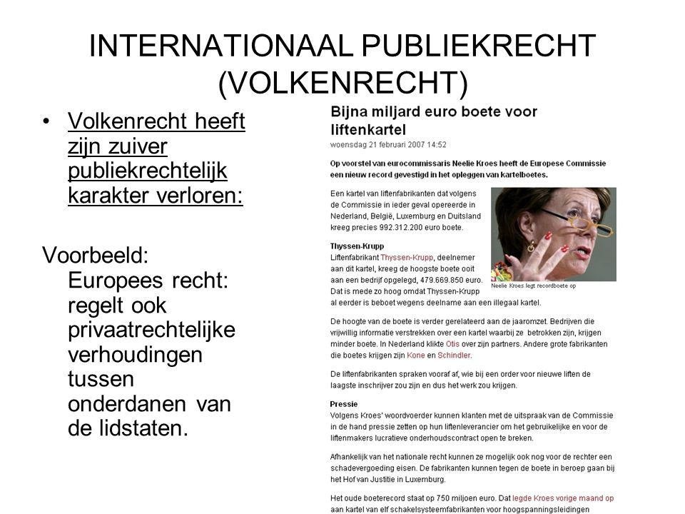 INTERNATIONAAL PUBLIEKRECHT (VOLKENRECHT)