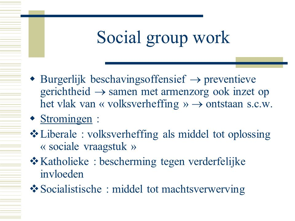 Social group work