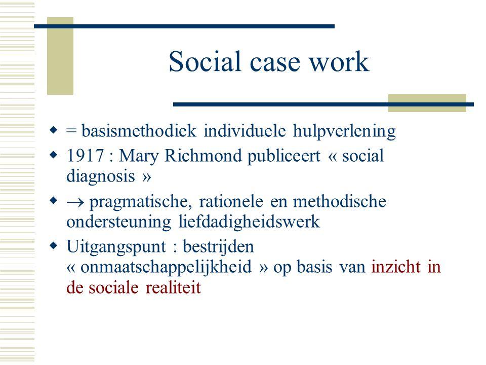 Social case work = basismethodiek individuele hulpverlening