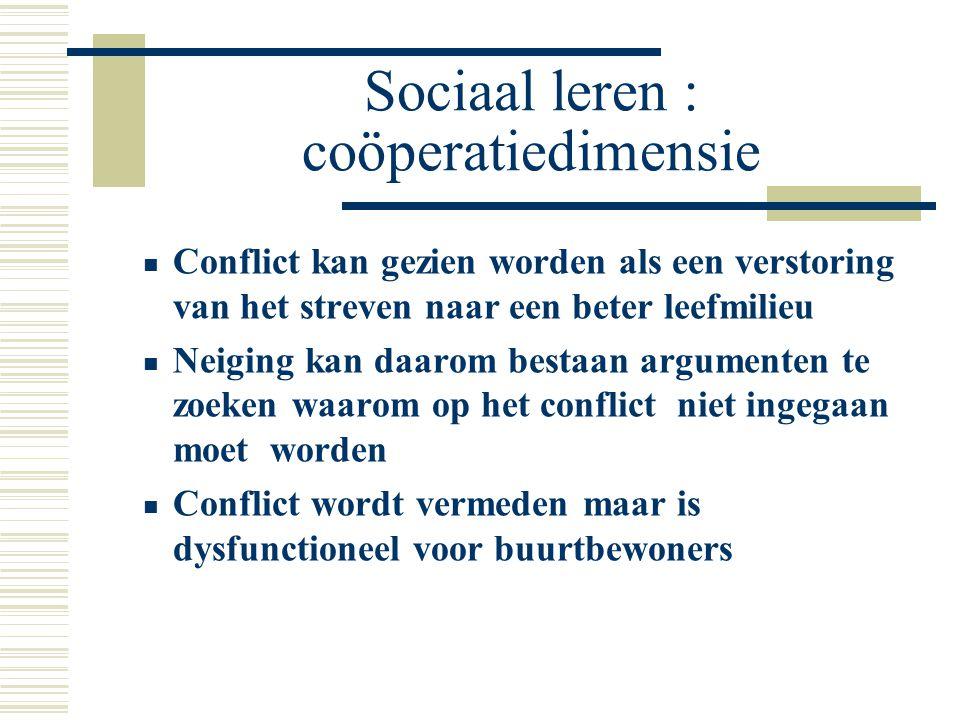 Sociaal leren : coöperatiedimensie