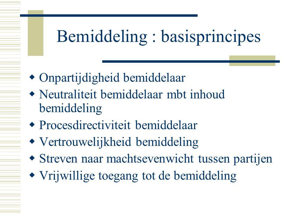 Bemiddeling : basisprincipes