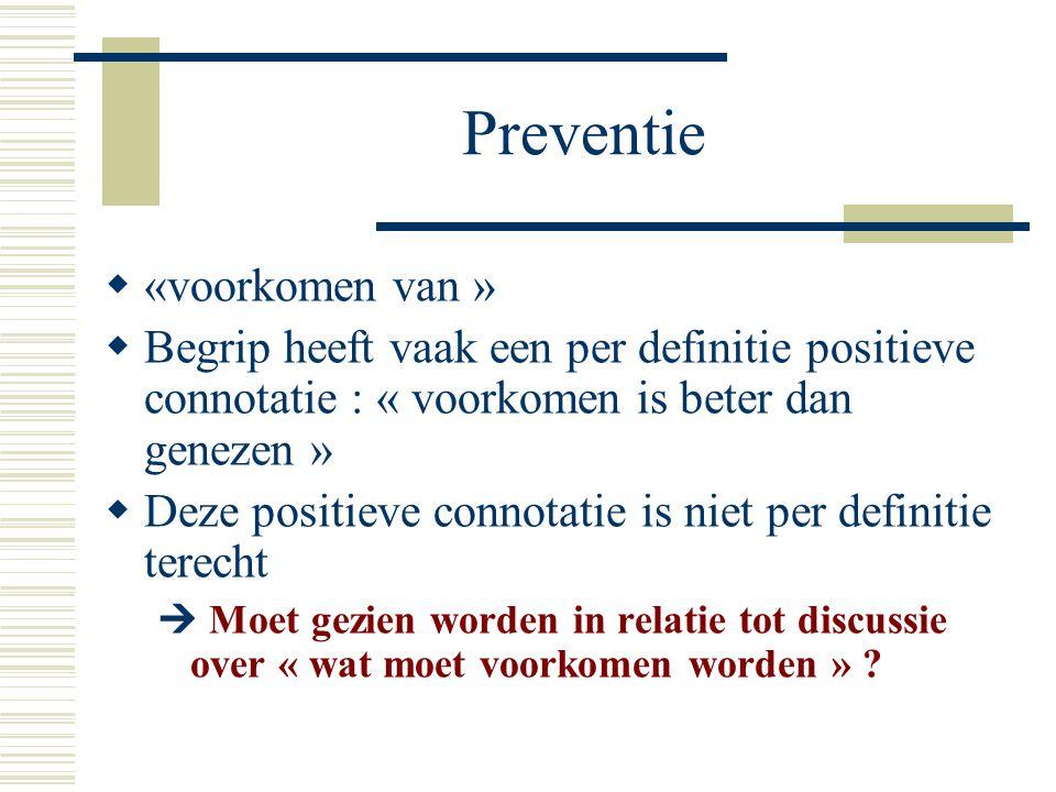 Preventie «voorkomen van »