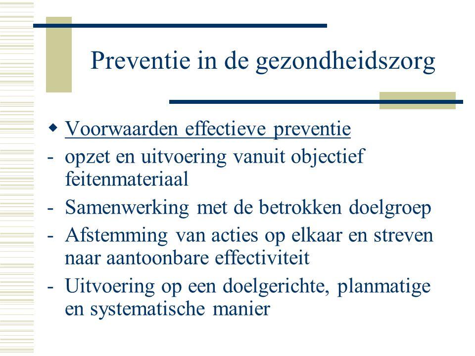 Preventie in de gezondheidszorg