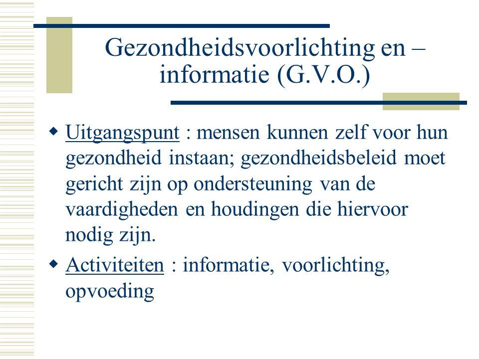 Gezondheidsvoorlichting en –informatie (G.V.O.)